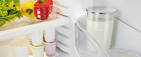 Store your milk container in the fridge between coffees